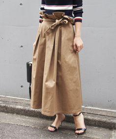 Spick & Span(スピック&スパン)の「チノ ボリュームスカート◆(スカート)」|ベージュ