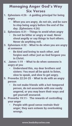 Manage Anger God's Way With These 6 Verses Managing Anger God's Way management Gary Chapman Taming a Powerful Emotion Anger management for Kids. Prayer Scriptures, Bible Prayers, Prayer Quotes, Bible Verses Quotes, Scriptures On Anger, Prayers For Anger, Healing Scriptures, Healing Quotes, Bible Verses For Marriage