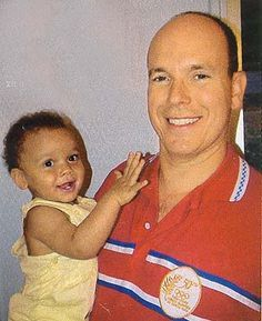 Prince Albert of Monaco and his son Alexandre