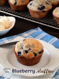 Gluten Free Blueberry Muffins {America�s Test Kitchen �The How Can it Be Gluten Free Cookbook� Review and Giveaway}