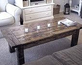 Farmhouse Coffee Table. $150.00, via Etsy.
