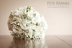 white gerbera gypsophila bouquet - Google Search