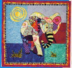 Ellie Fabulous Color Elephant quilt design