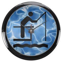 Fishing Design Aqua Clock