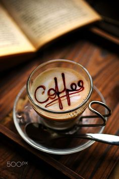You just take chocolate sauce and write over the latte art. Café Latte, Coffee Latte Art, I Love Coffee, Hot Coffee, Coffee Break, Iced Coffee, Coffee Drinks, Coffee Cups, Coffee Today