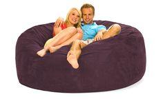 6 ft Purple Bean Bag Chair