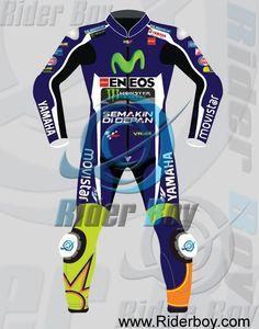 Valentino Rossi Yamaha M1 Movistar Racing Leather Suit http://www.riderboy.com