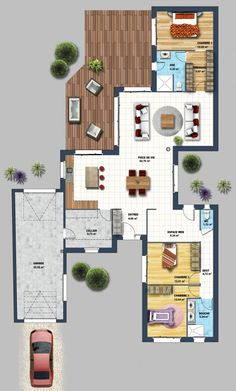 Plans To Design And Build A Container Home - constructeur maison contemporaine la chaume vendée 85 House Layout Plans, Dream House Plans, Modern House Plans, House Layouts, House Floor Plans, Building A Container Home, Container House Plans, Container Homes, Metal Building Homes