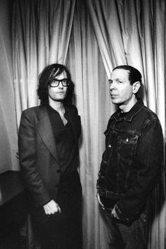 Jarvis Cocker and Scott Walker (photo by Jay Brooks, 9 February 2007
