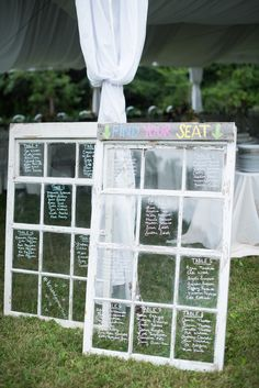 window pane wedding #seatingchart idea @weddingchicks