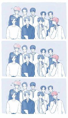 Chanbaek kokobop Baekhyun Fanart, Chanbaek Fanart, Fanart Bts, Exo Chanbaek, Chanyeol Baekhyun, Exo Ot12, K Pop, Exo Anime, Exo Kokobop