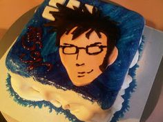 Dr who face cake