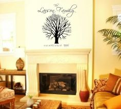 LARGE FAMILY TREE Vinyl Vynal Vinal Wall by vinylvineyard on Etsy, $35.00