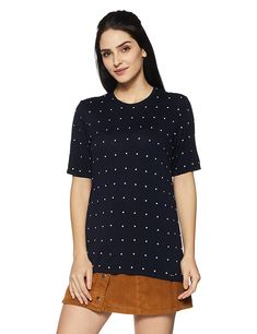4602cb3efc2953 Van Heusen Women s Plain Regular Fit Top  Amazon.in  Clothing   Accessories.  Workout TopsAmazing WomenPolka Dot Top