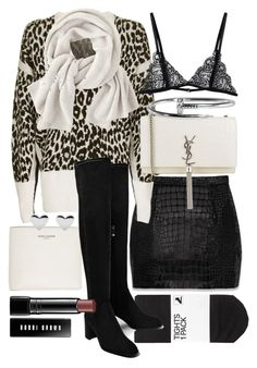 """""""Untitled #20418"""" by florencia95 ❤ liked on Polyvore featuring Yves Saint Laurent, H&M, Topshop, Wrap and Bobbi Brown Cosmetics"""