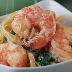 Creamy One-Pot Spinach Shrimp Pasta