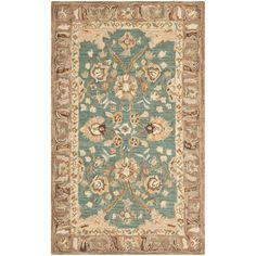 Safavieh Hand-made Anatolia Teal/ Camel Wool Rug (3' x 5') - Overstock™ Shopping - Great Deals on Safavieh 3x5 - 4x6 Rugs