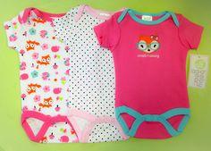 Baby Girl 3 Pack Onesie Set