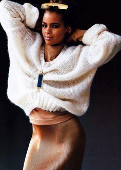 Oliviero Toscani for Elle magazine, January 1987. Sweater by Margaretta.