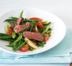 Bohnensalat mit Steak = sommerlich, frisch, lecker!