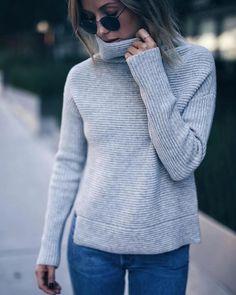 @augustdiariesca in the Babaton Mika sweater