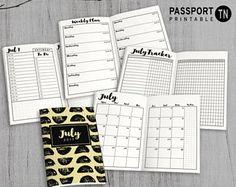 Printable Passport Insert Passport Traveler's Notebook
