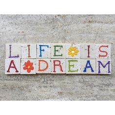 Life Is A Dream, Sentence On Carved Photograph