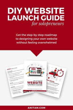 Website Launch in just 7 steps! Are you looking for a step-by-step guide to designing your own website for your business? Look no further ... get the free WordPress Roadmap that shows you how to DIY your website. #buildawebsite #DIYwebsite #websitedesign #WordPress #Freebie #WebDesign #website #WProadmap #WebMentor #WordPressRoadmap #tutorial #WebsiteLaunchGuide #Solopreneur #WebsiteInWeekend #Layout2Launch #anitam.com #LearnWithAnitaM Creative Business, Business Tips, Design Your Own Website, Business Marketing Strategies, Website Maintenance, Web Design Tips, Business Website, Wordpress, Step Guide