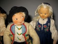 3 Decades Of Norwegian Dolls By Rønnaug Petterssen | Setesdal & Gudbrandsdalen | Bunad For Men and Women Vintage Collectibles Used And Loved