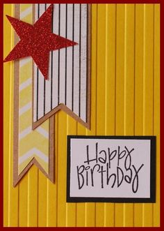 Nice masculine birthday card, even with glittery star