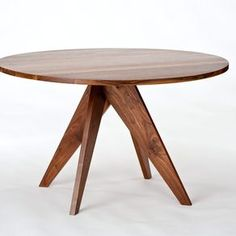 Round Dining Table - Walnut by Randy Hornman