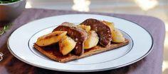 Tartes fines au foie gras et aux pommes