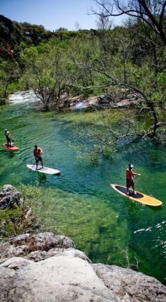 Stand up Paddling (SUP) at Lady Bird Lake in Austin, Texas • original source not found
