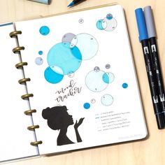 My filled in mood tracker for April! I really like how this one turned out :) : bulletjournal
