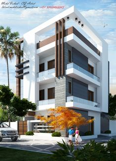 Bungalow House Design, House Front Design, Modern House Design, House Elevation, Building Elevation, Front Elevation, Morden House, Pooja Room Door Design, Pole Barn Homes