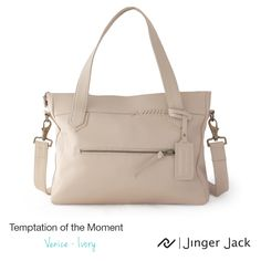 Temptation of the Moment.  Jinger Jack VENICE in Ivory!  #NiceThingsOnEarth #UniversalEleganceDESIGNEDinCapeTown #Venice #TemptationoftheMoment #Style #LeatherHandbag Leather Handbags, Leather Bag, Venice, Gym Bag, Africa, Ivory, In This Moment, Wallet, Style