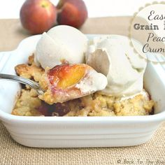 Easy, Grain Free Peach Crumble | Back To The Book Nutrition