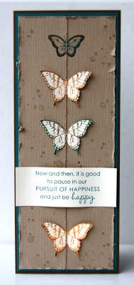 Stampin' UP! Papillon Potpourri Pursuit of Happiness by First Hand Emotion
