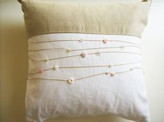 Cushion cover  with small buttons