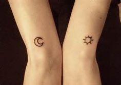 minimalistic sun and moon tattoo