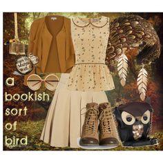 Owl: A Bookish Sort Of Bird by skylarkza on Polyvore