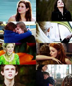 Ariel, the evil queen, Beauty and the Beast, Emma, Tinkerbell, Aurora and Mulan, Peter Pan, Regina and Henry.
