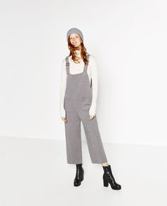 CROPPED DUNGAREES-JUMPSUITS-WOMAN | ZARA United States