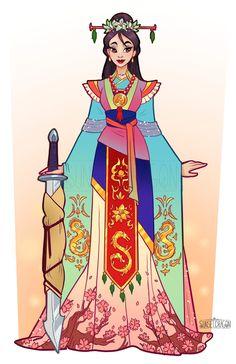 Sunset Dragon - Disney Mulan<<<< that's so pretty! Princesa Mulan, Princesa Anastasia, Disney Dream, Disney Love, Disney Magic, Walt Disney World, Disney Fan Art, Disney Artwork, Disney Cosplay