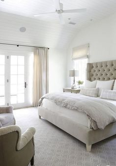 white bedroom bedhead master bedroom cozy bedroom idea elegant toddler for adult – Toptrendpin White Bedroom, Beige Bedroom, Bedroom Makeover, Elegant Bedroom, Bedroom Diy, Small Room Bedroom, Simple Bedroom, Bedroom Carpet, Couple Bedroom