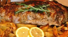 Greek-style Roast Leg of Lamb with Potatoes