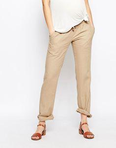 Image 4 of Mamalicious Linen Pants