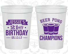 21st Birthday Party Cups, Cheap Party Favor Cups, Beer Pong Birthday Cups, Finally Legal Cups, Birthday Party Cups (20186)