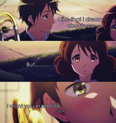 Sometimes this senario happens to me in my sleep...  Anime: Hibike Euphonium