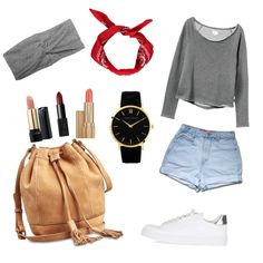 Casual Outfit by grecia-munoz on Polyvore featuring polyvore fashion style RVCA Topshop Lucky Brand Larsson & Jennings NARS Cosmetics Lancôme Estée Lauder